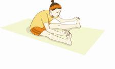 不眠対策に効果的なイルチブレインヨガの「開脚前屈」